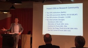 Erik Stam: high impact of research program EIM on entrepreneurship research community